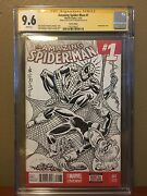 Al Milgrom Sketch Commission Cgc Ss Spiderman And Black Cat Sketch Cover