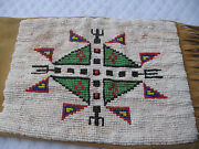 American Indian Signed Antique Plains/potawatomi Beaded 32tobacco Pipe Bag