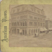 Stereoview Of Beautiful Building W/ Horse And Carriage - Springfield, Mass
