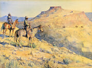 Flat Top Riders By Edward Borein Giclee Canvas Print Repro