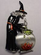Jj Jonette Jewelry Silver Pewter And039halloween Witch Brewing A Potionand039 Pin
