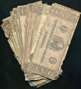 40 Fourty 1862-1863 1 One Dollars Csa Confederate States Of America Notes