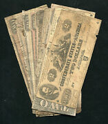 10 Ten 1861-1864 2 Two Dollars Csa Confederate States Of America Notes