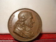 1816 French Historical Copper Art Medal Corneille 17th Dramatist By Gatteaux