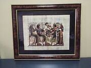 Egyptian Painting On Papyrus - Framed
