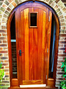 Sapele Solid Hardwood Timber Arched Door Made To Measure Bespoke