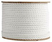 Anchor Rope Dock Line 2 X 50and039 3 Strand Twisted 100 Nylon White Made In Usa