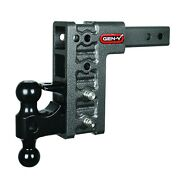 2 Receiver Class V 16k Drop Hitch Gh-524, Includes Dual Ball And Pintle Lock