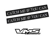 2 Vms Aluminum Catch Me If You Can Biker Motorcycle Club Bar Emblems Badges