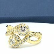 14k Yellow Gold Natural Diamond My Best Friend And Lover Ring April Birthstone