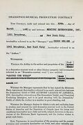 Orson Welles Twice Signed 1946 Contract Resulting In The Lady From Shanghai