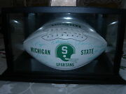 Collectible Msu Spartan Signed Football For Detroit Mayor Coleman A Young