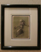 Original Signed Lithograph By Al Hirschfeld Entitled Le Gong Bali