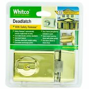 Whitco Deadlatch Double Cylinder For Timber/metal Door- Gold Plated Aust Brand