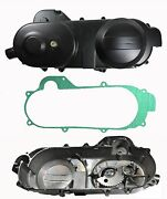49cc 50cc Crankcase Cover Lh Short Case Gy6 Qmb139 W/kick Start Gear And Gasket