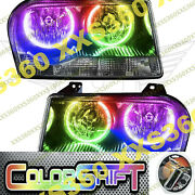 Oracle Halo 2x Headlights Non Hid For Chrysler 300 V6 05-10 Colorshift 1.0