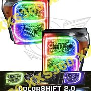 Oracle Halo Headlights Chrome For Ford F250/f350 11-16 Colorshift 2.0 W/ Remote