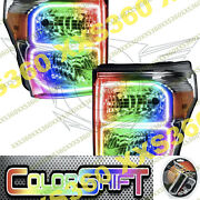 Oracle Halo Headlights Chrome For Ford F250/f350 11-16 Colorshift 1.0