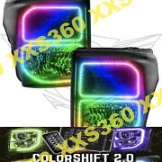 Oracle Halo Headlights Black For Ford F250/f350 11-16 Colorshift 2.0 W/ Remote