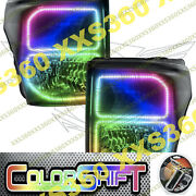 Oracle Halo Headlights Black For Ford F250/f350 11-16 Colorshift 1.0