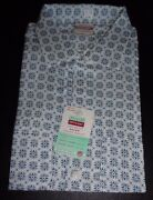 Nos Penny's 50's-60's Atomic Tribal Blue White Black Loop Collar Rockabilly Xl