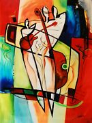 Beginning Of Love And Music By Gockel Sale Fine Art On Canvas Abstract Art