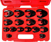 16 Piece Sae 3/8 And 1/2 Drive Flare Nut Crowsfoot Wrench Set Tande Tools 93916