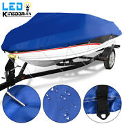 14-16ft Boat Cover Waterproof 210d Oxford Beam 90 Trailerable Fits V-hull Boats