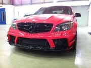 Portion Carbon Kit For 08-11 Benz W204 C63 Amg Black Edition Front And Rear Bumper