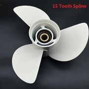 Outboard Propeller Alloy Fit For Yamaha 15tooth Spline 131/2x15k Boat Pro