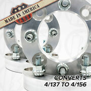 4 Pc. 4x137 To 4x156 Wheel Adapters/spacers 1 Thick For Kawasaki And Can-am Atv