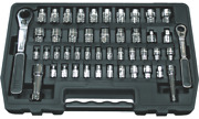 46 Piece M13 And M20 Hollow Drive Sae And Metric Gearratchet Socket Set Tande Tools Gr