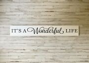 It's A Wonderful Life Wood Sign | Farmhouse Decor | Rustic Wooden Sign