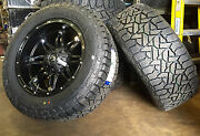 20 20x10 D531 Hostage Black Wheels 35 Fuel At Tires 6x5.5 6x135 Chevy Ford Gmc