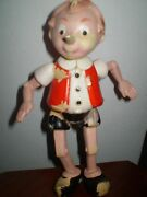 Very Rare Old Celluloid Plastic Buratino Pinocchio Toy Ussr 1950-russia