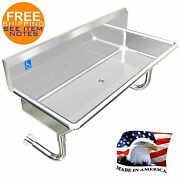 Ada 1 Person 42 Hand Washing Sink Heavy Duty 14ga Stainless Steel Made In Usa