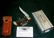 Camillus Usa Lockback Knife And Sheath Sfo For Beck's Hybrids W/package And Papers