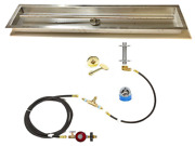 316 Stainless 48″ T-burner And Diy Propane Deluxe Fire Table Kit W/ 52x10 Pan