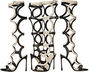 Spectacular Sold Out New 1695 Sergio Rossi Gladiator Arabesque Sandals