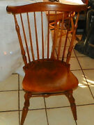Maple Windsor Back Desk Chair / Sidechair By Nichols And Stone Rp-sc267