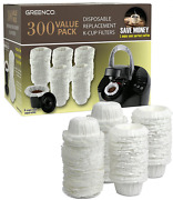 Greenco 0017c 300 Disposable K-cup Filters Compatible With Keurig K-cup