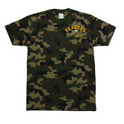 Pro Club Camo Camouflage Seabees Can Do Bee Logo Military T-shirt T Shirt