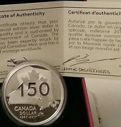 Signed 1867-2017 Special Edition Proof Silver Dollar Canada Ourhome And Nativeland