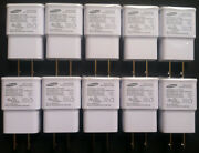 10x Samsung 2 Amp 5 Volt Wall Charger Usb Adapter Oem For Galaxy Note 2 3 S5 S4