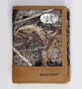 Tennessee Volunteers Trifold Realtree Max-5 Camo And Leather Wallet W/ Vols Concho