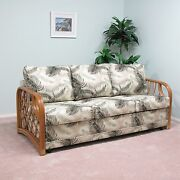 Made In Usa Rattan Living Room Sofa Queen Sleeper Bed Choice Of Fabrics