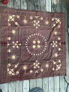 Ottoman Purple Velvet And Metal Thread Embroidery Large 18th/19th Century