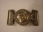 Original British Officers Silver Dress Buckle-2nd Airborne Lincolnshire Rifles