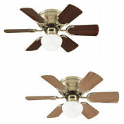 Westinghouse Ceiling Fan Light Petite Antique Brass With Pull Cord 76 Cm / 30