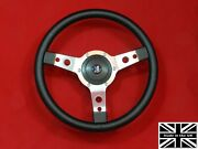 14 Classic Leather Steering Wheel And Hub. Fits Triumph Spitfire 77-80